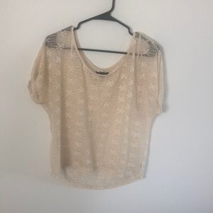 American Eagle Size Medium Lace Detail Top